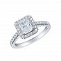 Regal Radiant Cut Diamond Ring