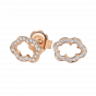 Cloud 9 Rose Gold and Diamond Earrings