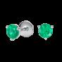 Solitaire Emerald Stud Earrings