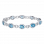 Regal Aquamarine and Diamond Bracelet