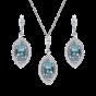 Cleopatra Aquamarine and Diamond Pendant