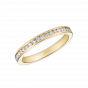 Channel Set Diamond Eternity Ring in Yellow Gold