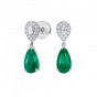 Burlington Emerald and Diamond Earrings