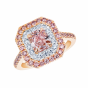 Pink Diamond Double Halo Regal Ring