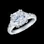 Diamond Cushion Cut Trio Ring
