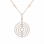 Saturn Diamond Pendant in Rose Gold