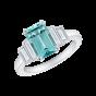 Artemis Paraíba Tourmaline and Diamond Ring