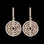 Large Rose Gold Diamond Saturn Drop Earrings
