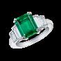 Artemis Emerald and Diamond Ring
