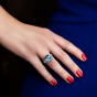 Majestic Aquamarine and Diamond Ring