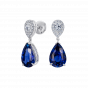 Burlington Royal Blue Sapphire and Diamond Earrings