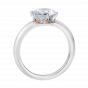 Solitaire Diamond Ring with Pink Diamonds