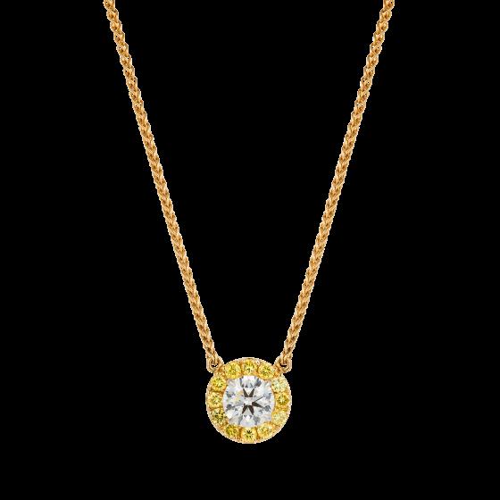 Regal Yellow Diamond Pendant