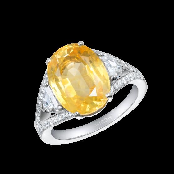 Majestic Yellow Sapphire Ring