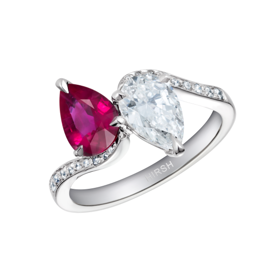 Duet Ruby and Diamond Ring