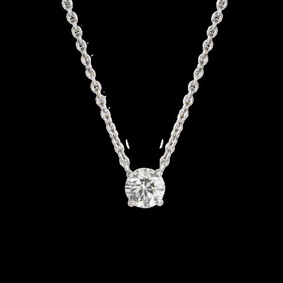 Solitaire Round Brilliant Cut Diamond Pendant