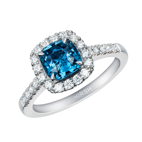 Regal Ring set with a cobalt-blue spinel