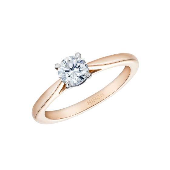 Solitaire Round Diamond Ring in Rose Gold