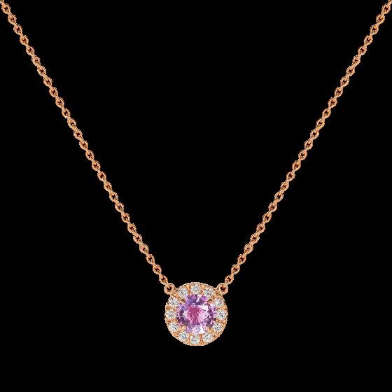 Regal Pink Sapphire and Diamond Pendant