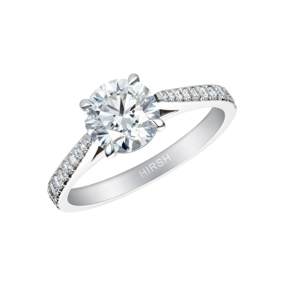 Round Brilliant Cut Diamond Reflection Ring