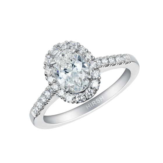Regal Ring with Oval Diamond