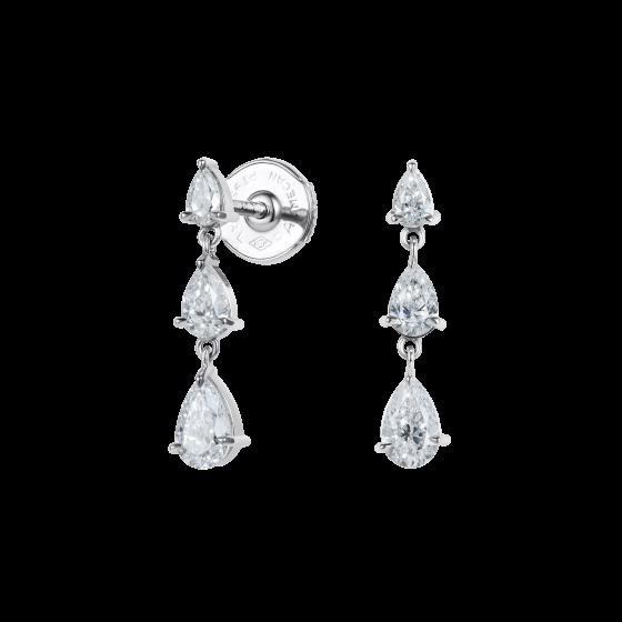 Trilogy Pear Shape Diamond Earrings