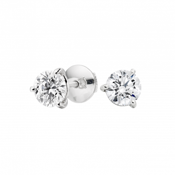 Solitaire Diamond Studs 1.06 carats total
