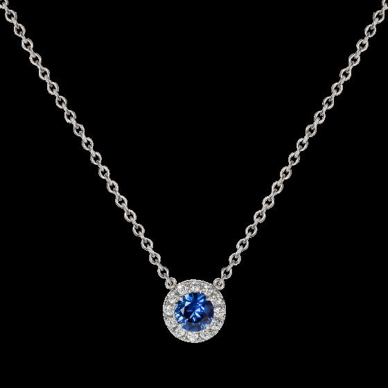 Regal Sapphire and Diamond Pendant