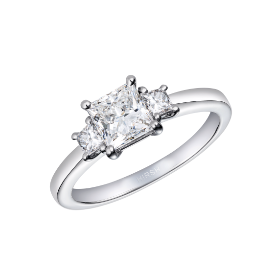 Trilogy Princess Cut Diamond Ring