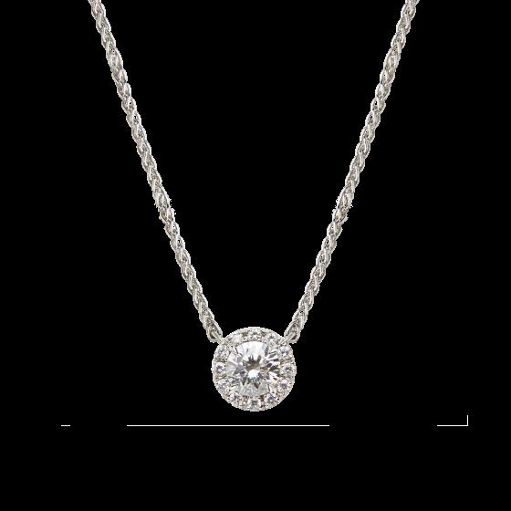 Regal Round Diamond Pendant 0.50 carat