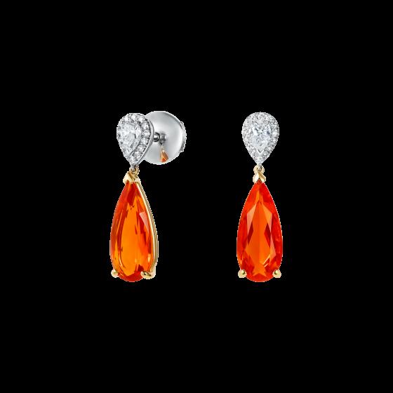 Burlington Fire Opal and Diamond Earrings