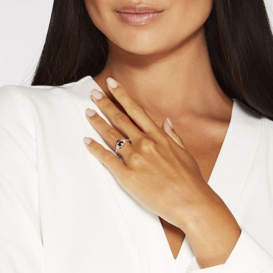 Trio Colour-Change Garnet and Diamond Ring