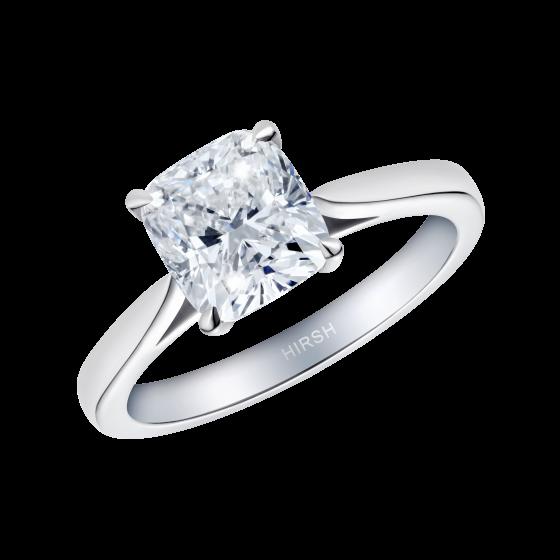 Solitaire Cushion Cut Diamond Ring