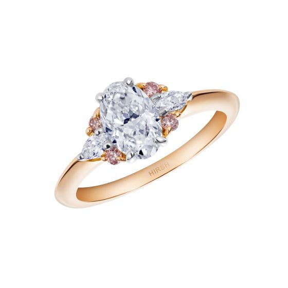 Papillon Diamond and Pink Diamond Ring