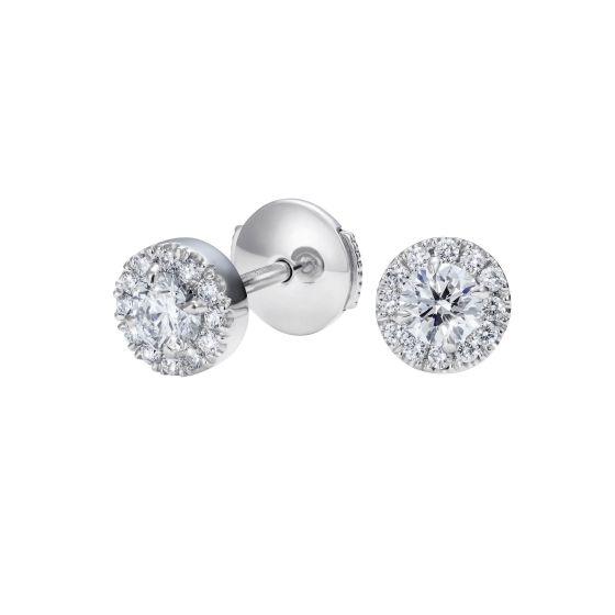 Regal Earrings Set with Diamonds