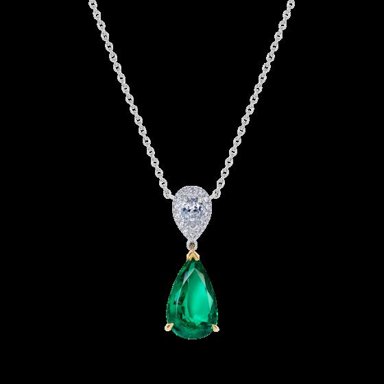Burlington Emerald and Diamond Pendant