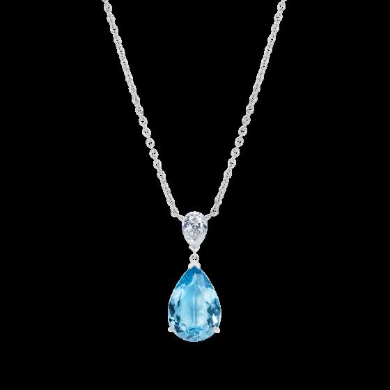 Wallace Aquamarine and Diamond Pendant