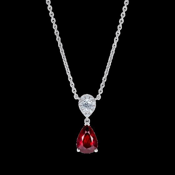 Burlington Ruby and Diamond Pendant