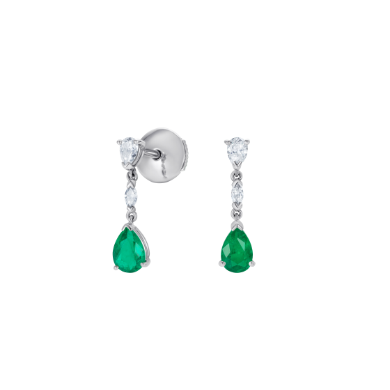 Grafton Emerald and Diamond Drop Earrings