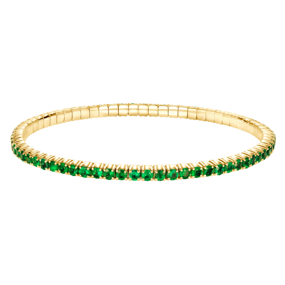 Large Advantage Emerald Bracelet in Yellow Gold