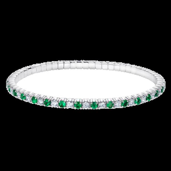 Advantage Emerald and Diamond Bracelet