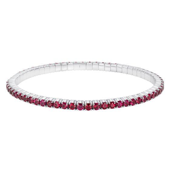 Large Advantage Ruby Bracelet in White Gold