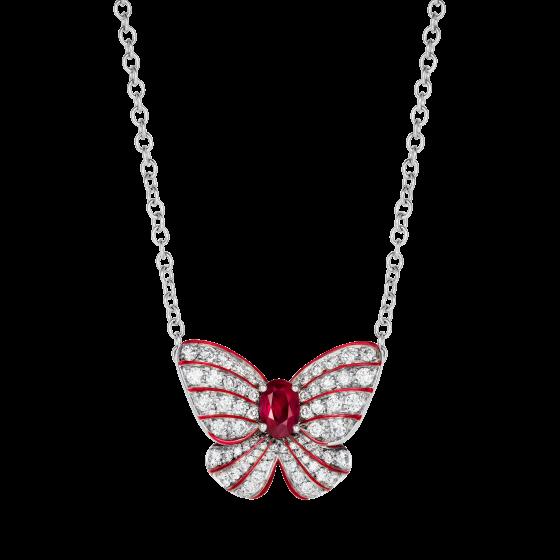 Grace Ruby Butterfly Pendant