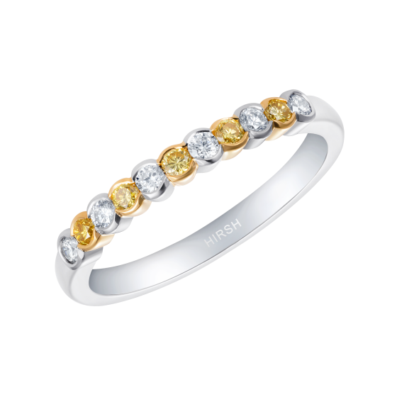 Lifetime Yellow Diamond and Diamond Ring