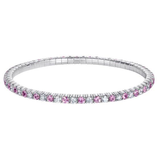 Advantage Pink Sapphire and Diamond Bracelet