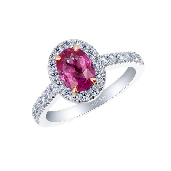 Regal Pink Sapphire and Diamond Ring