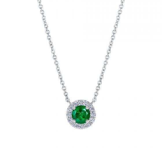 Regal Emerald and Diamond Pendant