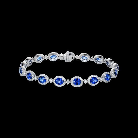 Oval Cut Sapphire Regal Bracelet