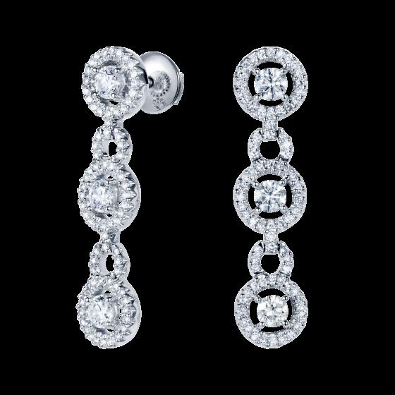 Regal Diamond Drop Earrings