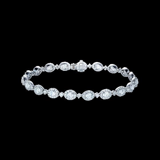 Oval Cut Diamond Regal Bracelet